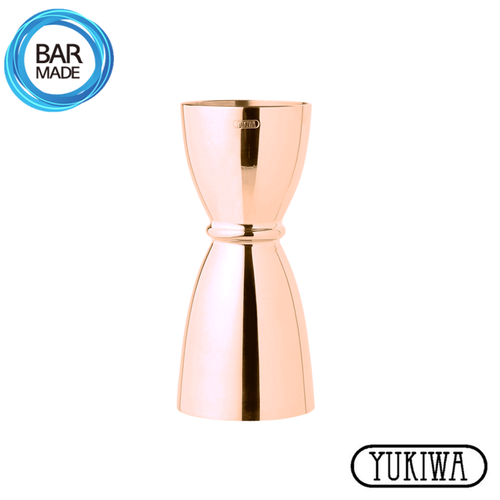 ★ 눈금 O 유키와 U형 지거 (핑크 골드)(30ml/45ml)Yukiwa U Shaped Jigger - Pink Gold