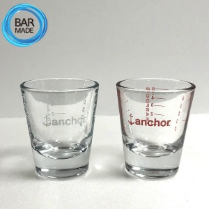 [ 2P SET ] 앵커 1온스 계량 샷 잔 약 30ml(1oz) ANCHOR 1oz Measuring Shot Glass
