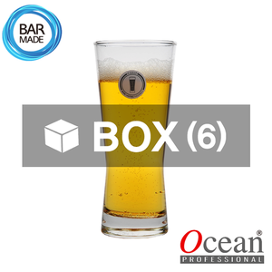1BOX - 6ea 오션 피즈 업 맥주 잔 (400ml) Ocean Fizz Up Beer Glass [B21314]