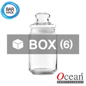 1BOX - 6ea오션 POP JAR 유리병(750ml) (유리뚜껑포함)Ocean POP JAR Glass Bottle[B02526G]