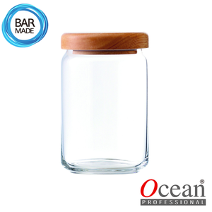 오션 POP JAR 유리병(750ml) (나무뚜껑포함)Ocean POP JAR Glass Bottle[B02526W]