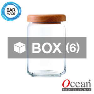 1BOX - 6ea오션 POP JAR 유리병(750ml) (나무뚜껑포함)Ocean POP JAR Glass Bottle[B02526W]