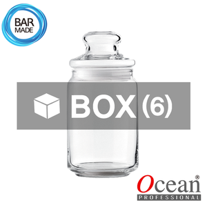 1BOX - 6ea오션 POP JAR 유리병(650ml) (유리뚜껑포함)Ocean POP JAR Glass Bottle[B02523G]