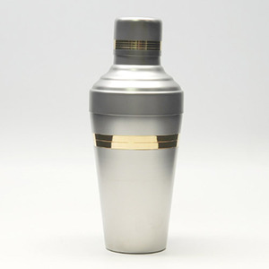 유키와 바론 무광 쉐이커 (실버/금줄)(510ml)Yukiwa Baron Matt Steel Shaker (Silver / Gold-Lined)